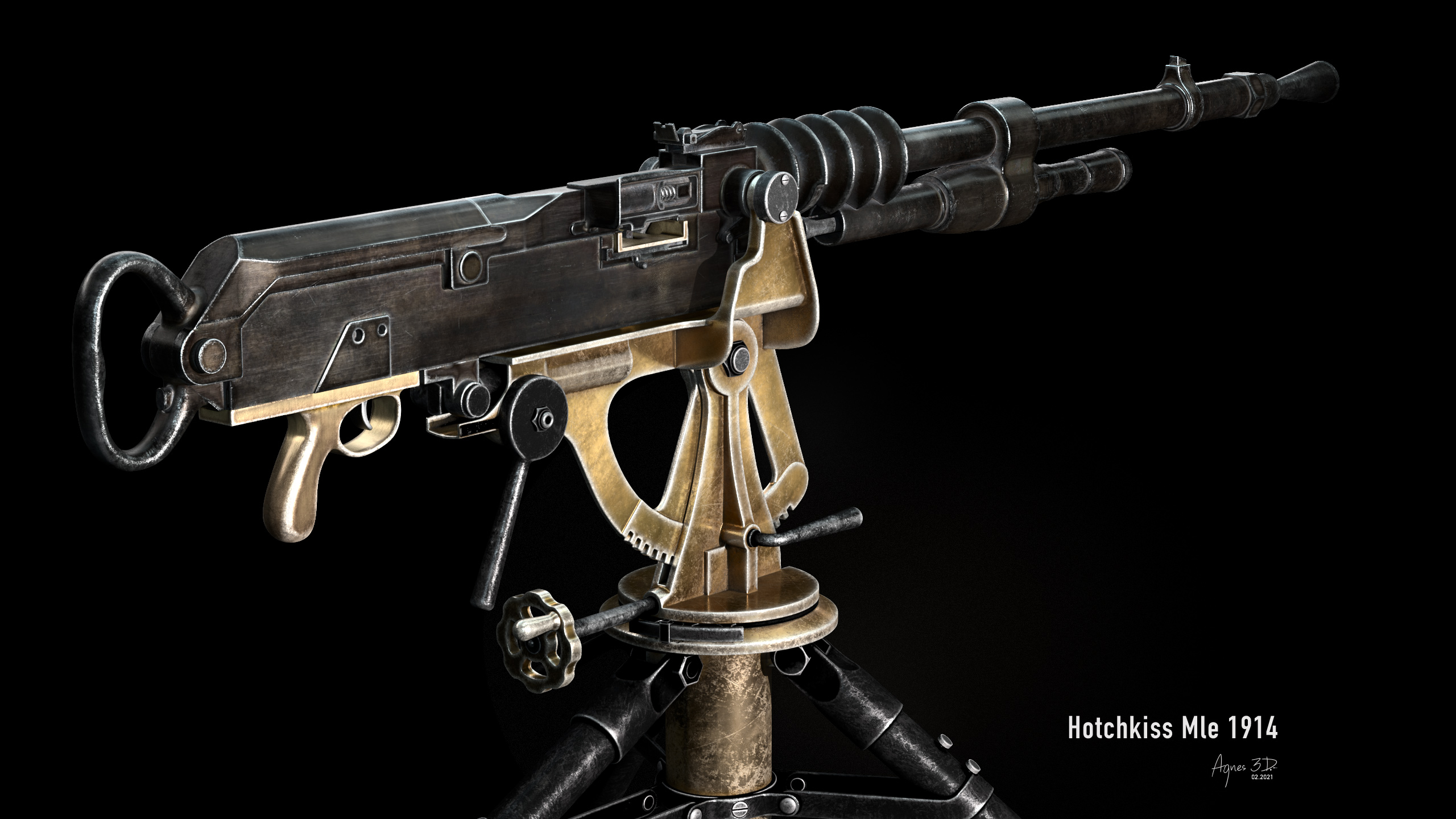 Hotchkiss MLE 1914 machine gun