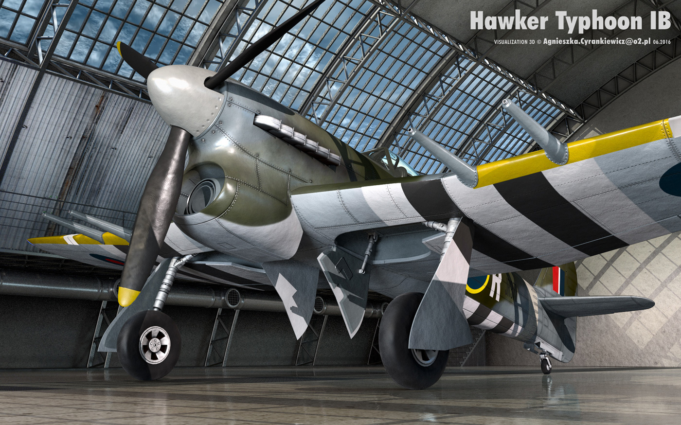 Hawker Typhoon IB, airplane, plane, WWII, war
