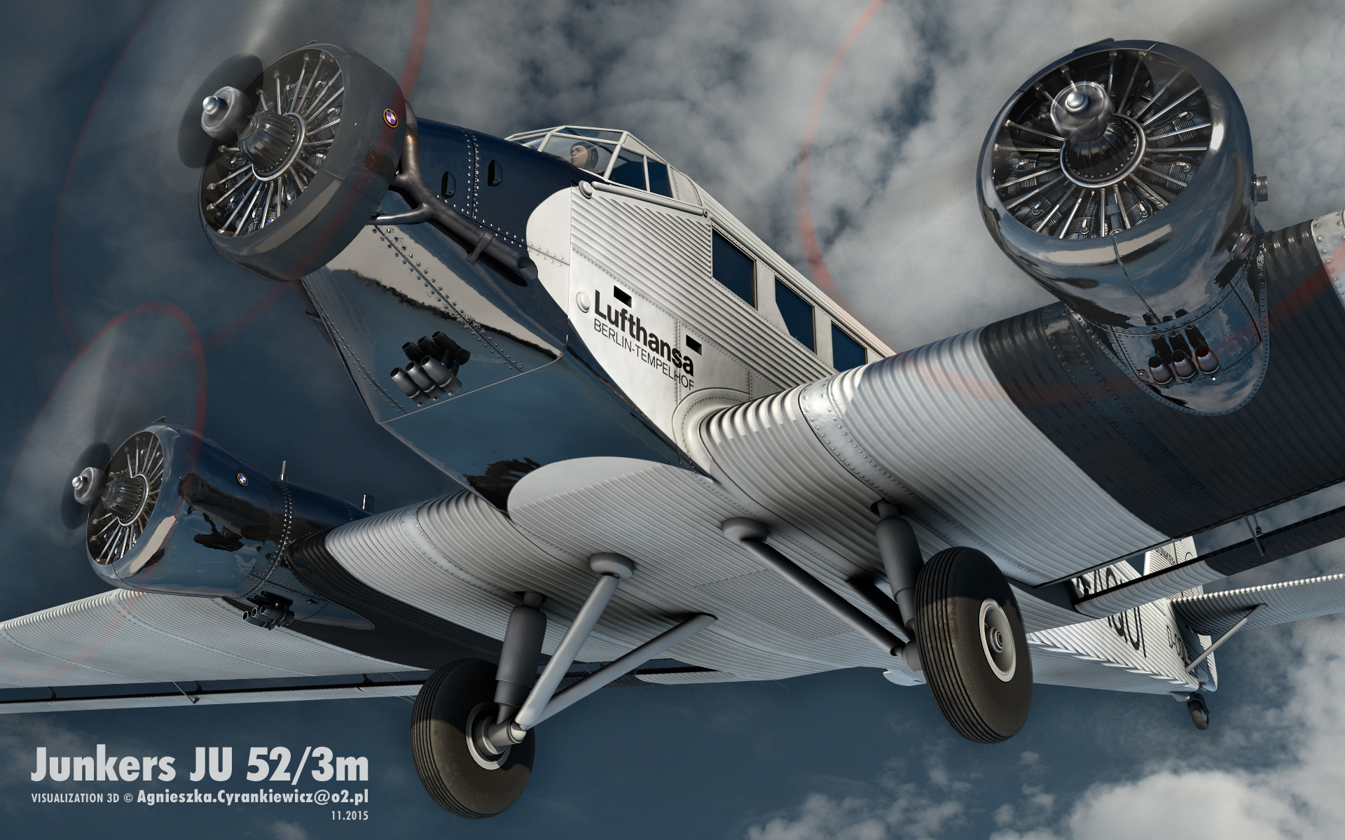 Junkers JU52/3m, Tante with BMW132