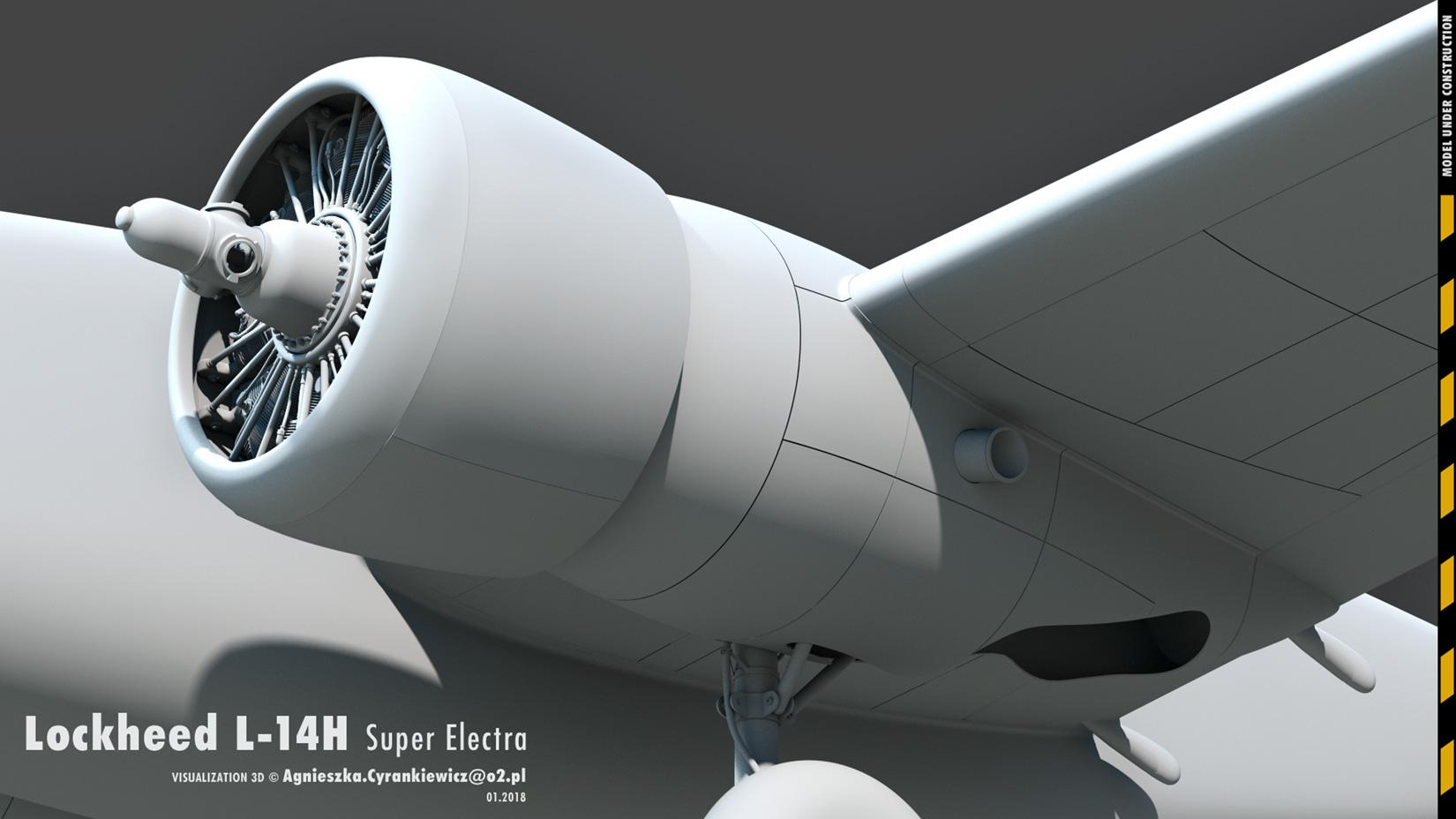 Lockheed Model 14 Super Electra, lockheed hudson, render, 3D, graphics, graphic, Mac Pro