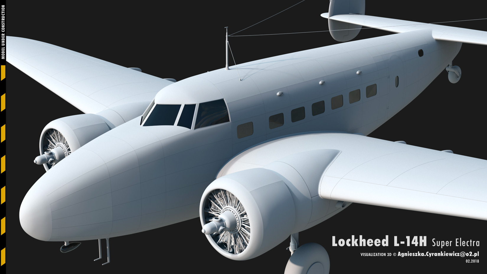 Lockheed Model 14 Super Electra, lockheed hudson, render, 3D, graphics, graphic, Mac Pro