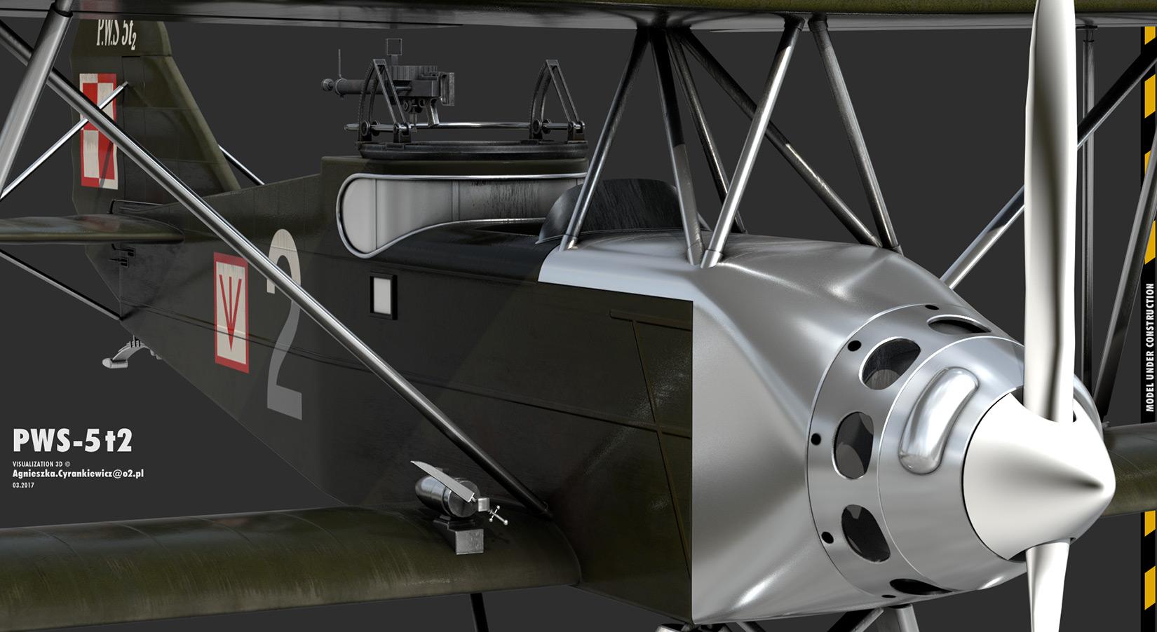 PWS Podlaska Wytwórnia Samolotów, PWS 5t2, PWS 20, LOT, Polskie Linie Lotnicze, render, 3D, graphics, graphic