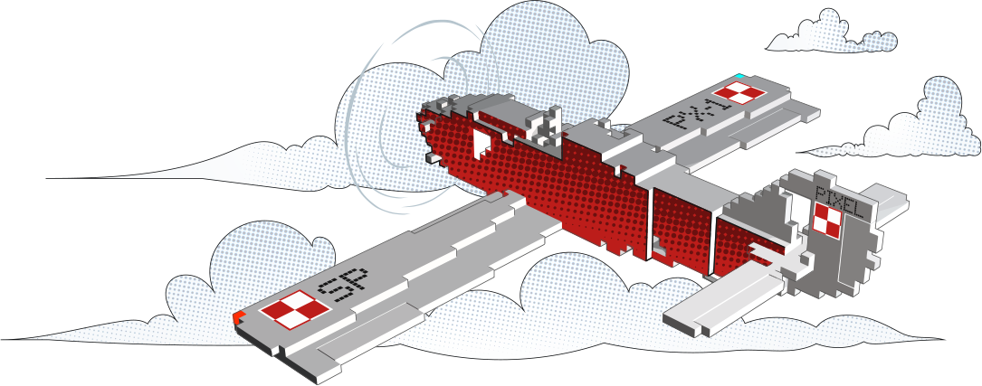 Agnes3D Pixel airplane
