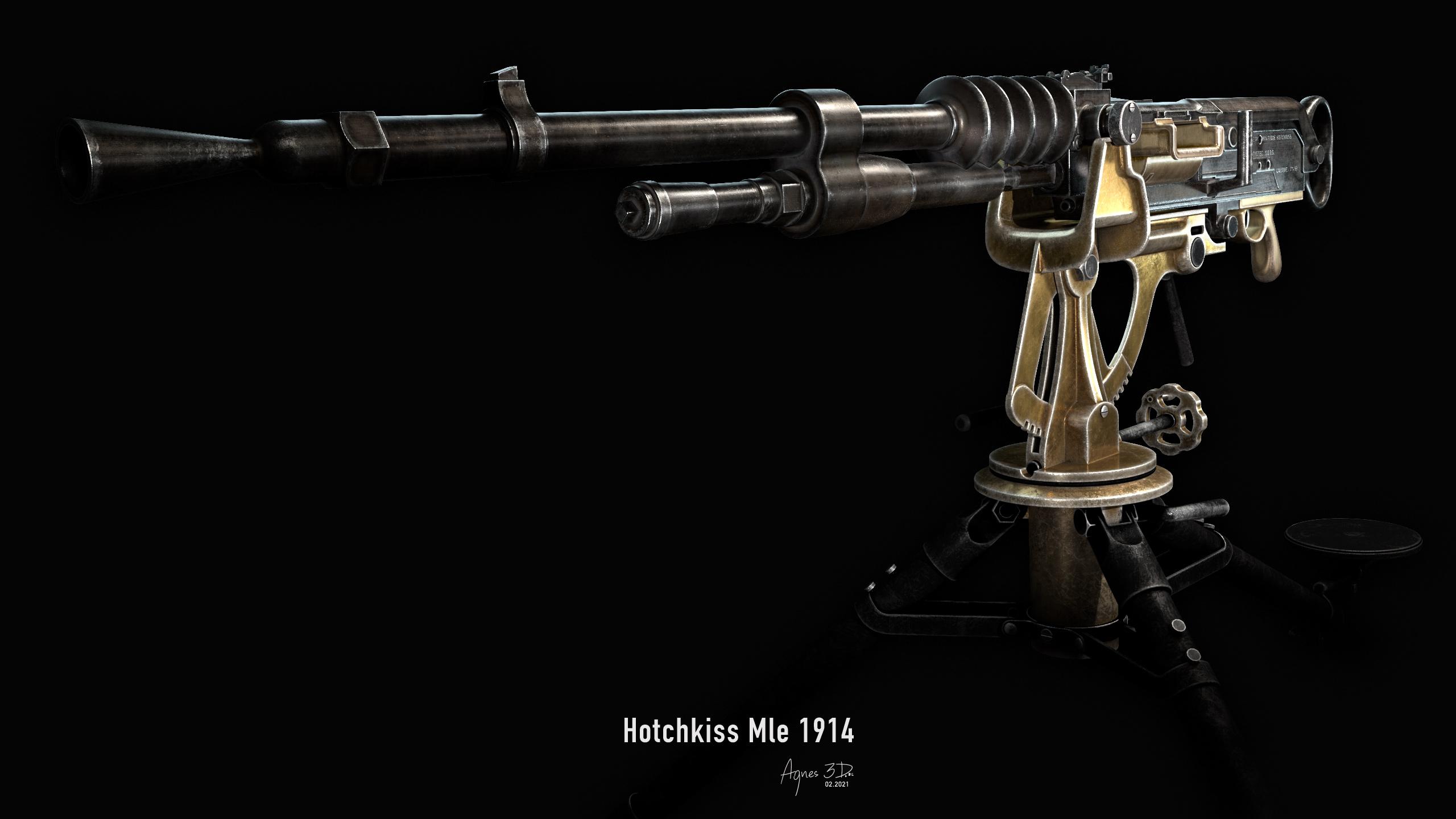 Hotchkiss MLE 1914 gun